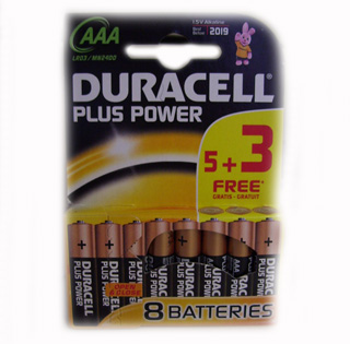 Duracell Plus Power AAA Batteries. - AAA