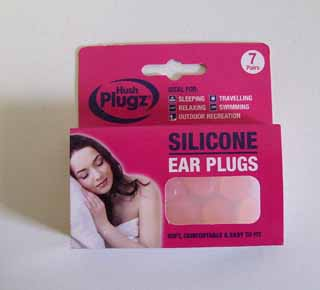Hush Plugz silicone ear plugs - 7 pairs of silicone ear plugs