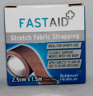 Fastaid Stretch Fabric Strapping (2.5x1.5) - 2.5cm x 1.5m (stretched)
