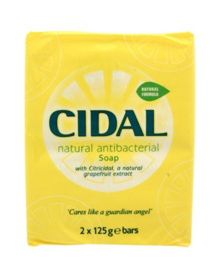 Cidal Natural Antibacterial Soap - 2 x 125g