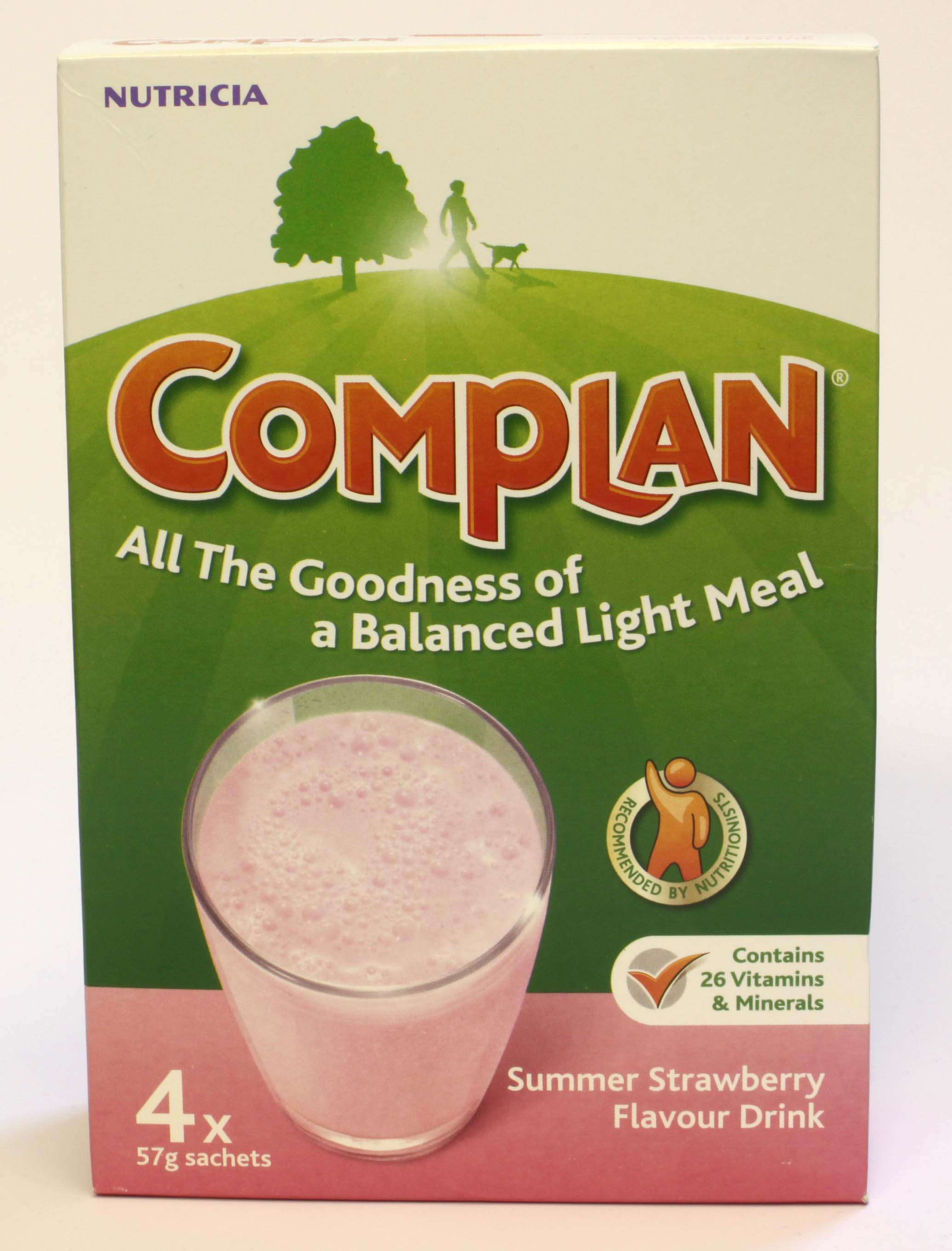 Complan Strawberry Flavour 4 sachets - 4 x 57g