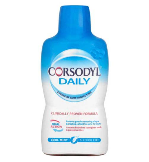 Corsodyl Daily Cool Mint Alcohol Free Mouthwash - 500ml