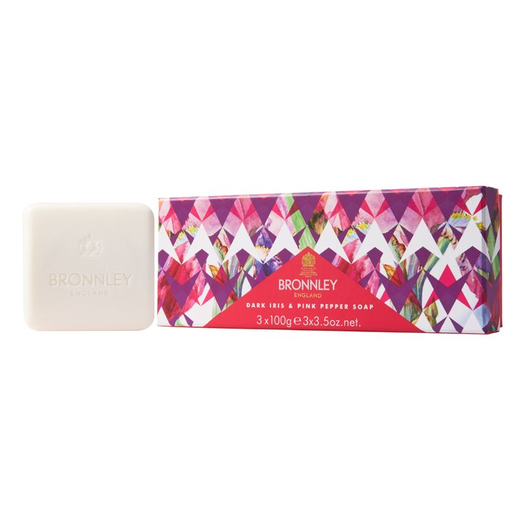 Bronnley Dark Iris & Pink Pepper Soap 3 x 100g