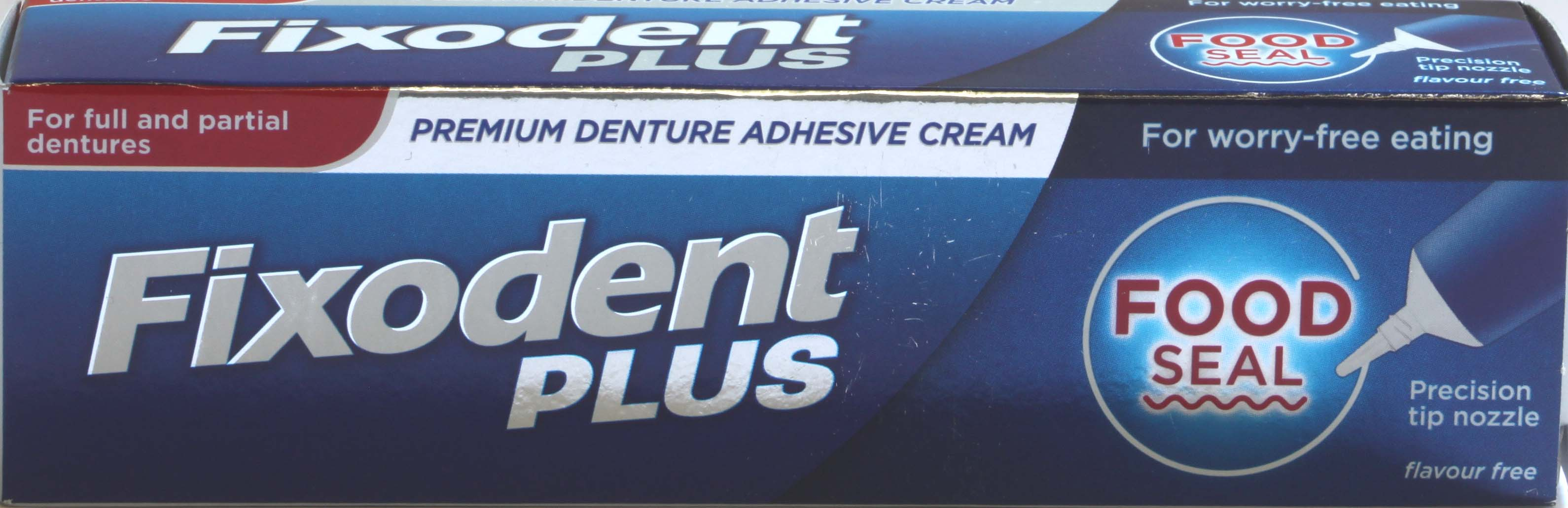 Fixodent Plus Food Seal Denture Adhesive - 40g