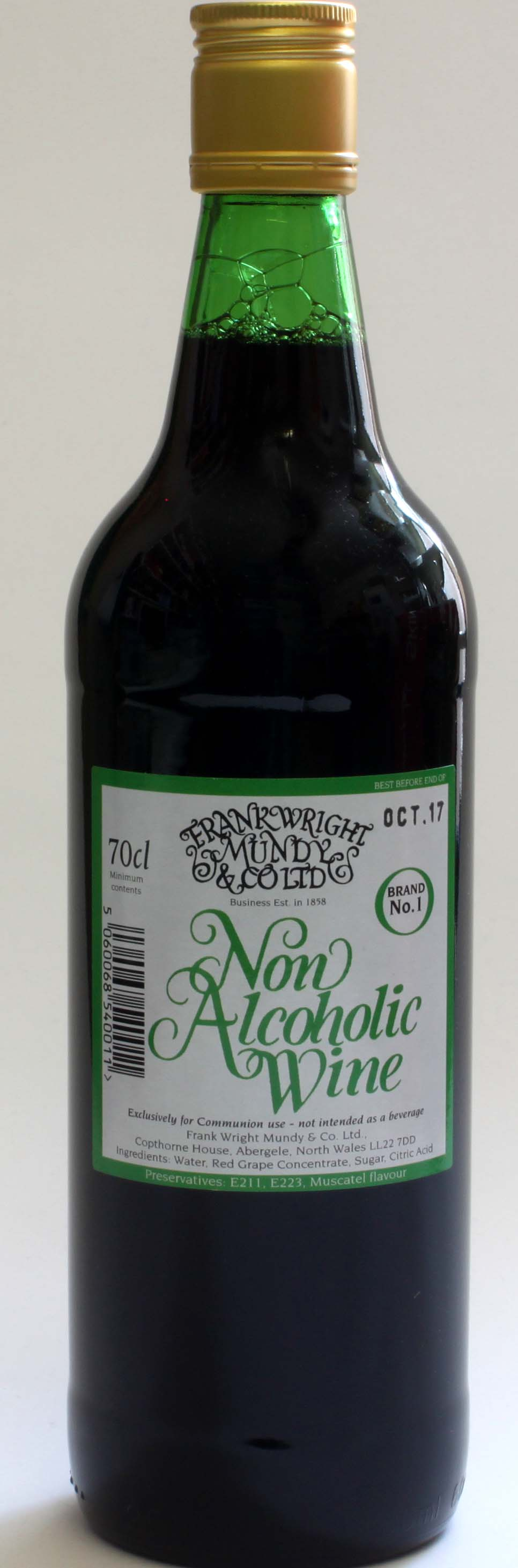 Frank Wright Mundy & Co Ltd Non Alcoholic Wine - 70 cl