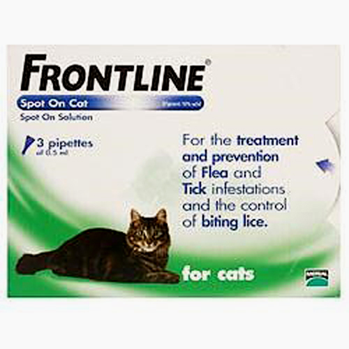 Frontline Spot On Cat 3 pipettes of 0.5 ml