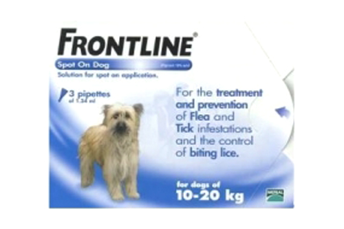 Frontline Spot On Dog Medium Dog 3 pipettes