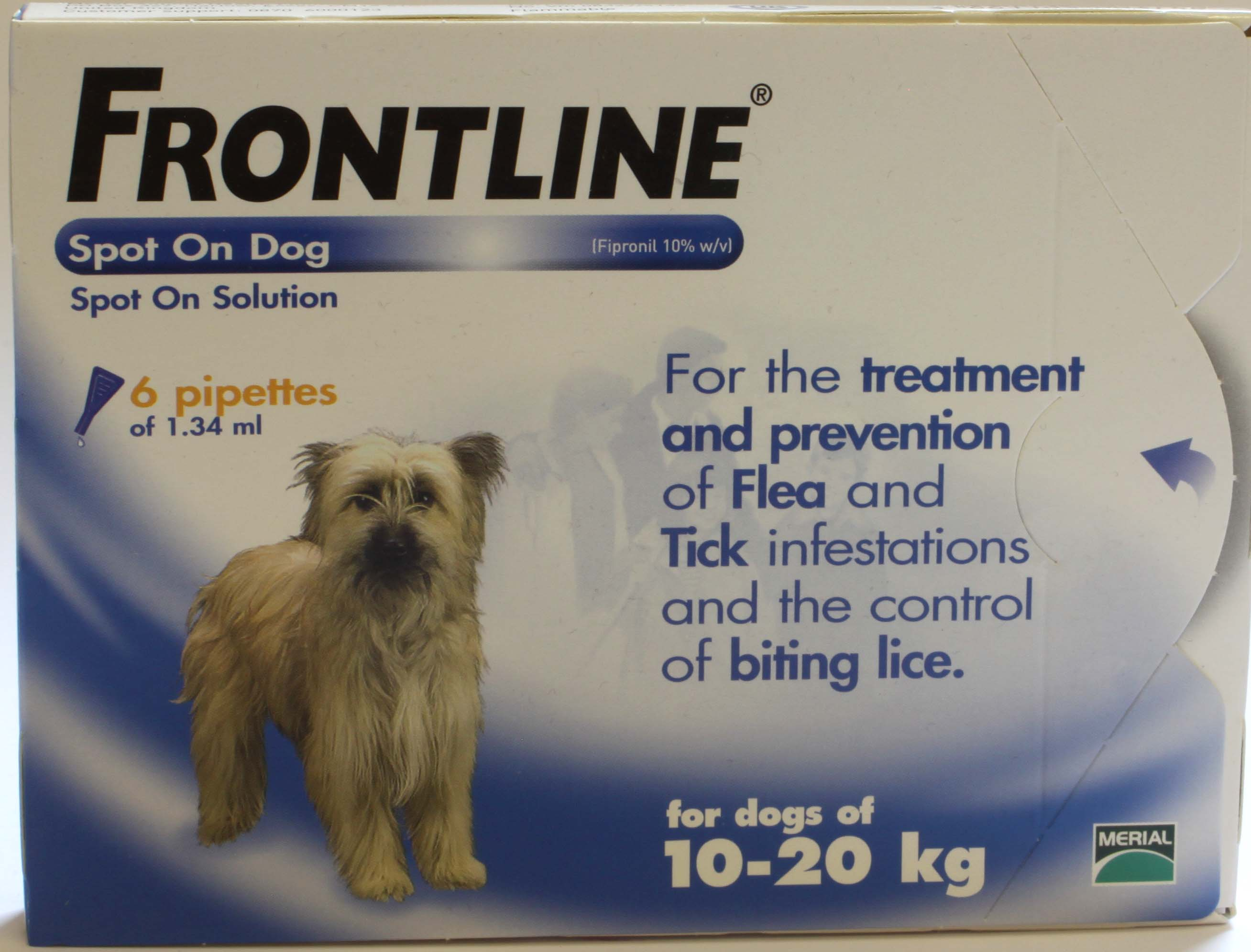 Frontline Spot On Dog Medium Dog 6 pipettes