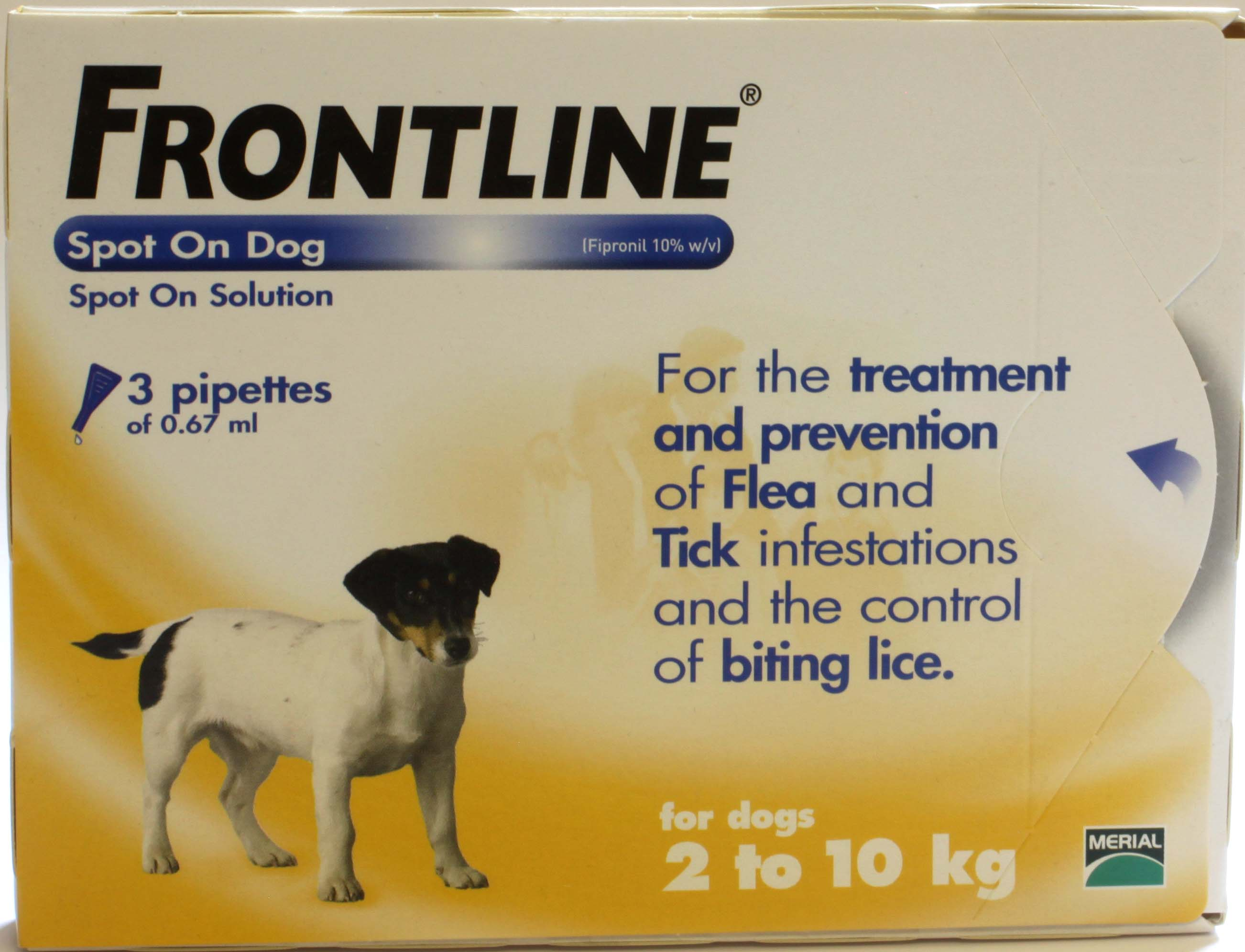 Frontline Spot On Dog Small Dog - 3 Pipettes of 0.67ml