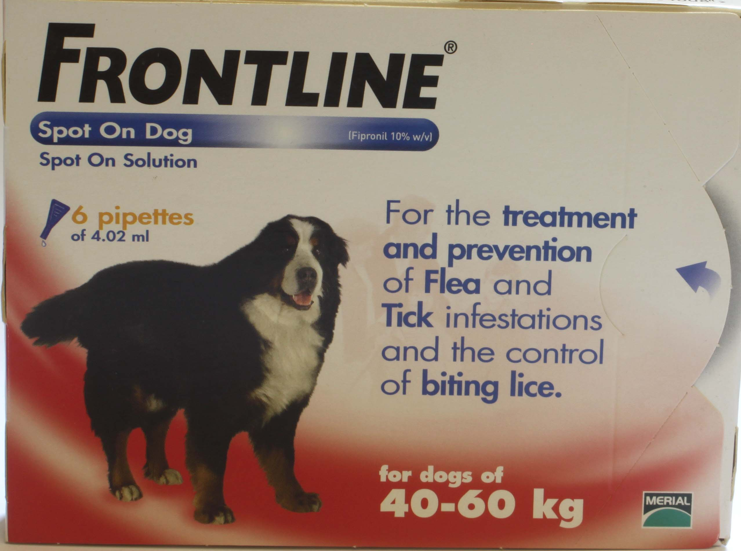 Frontline Spot On Dog Xtra Large Dog 6 pipettes