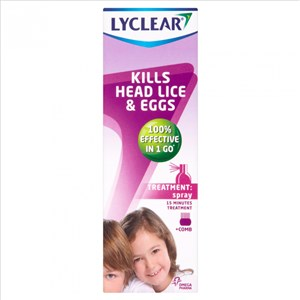 Lyclear  Spray + Comb - 100ml