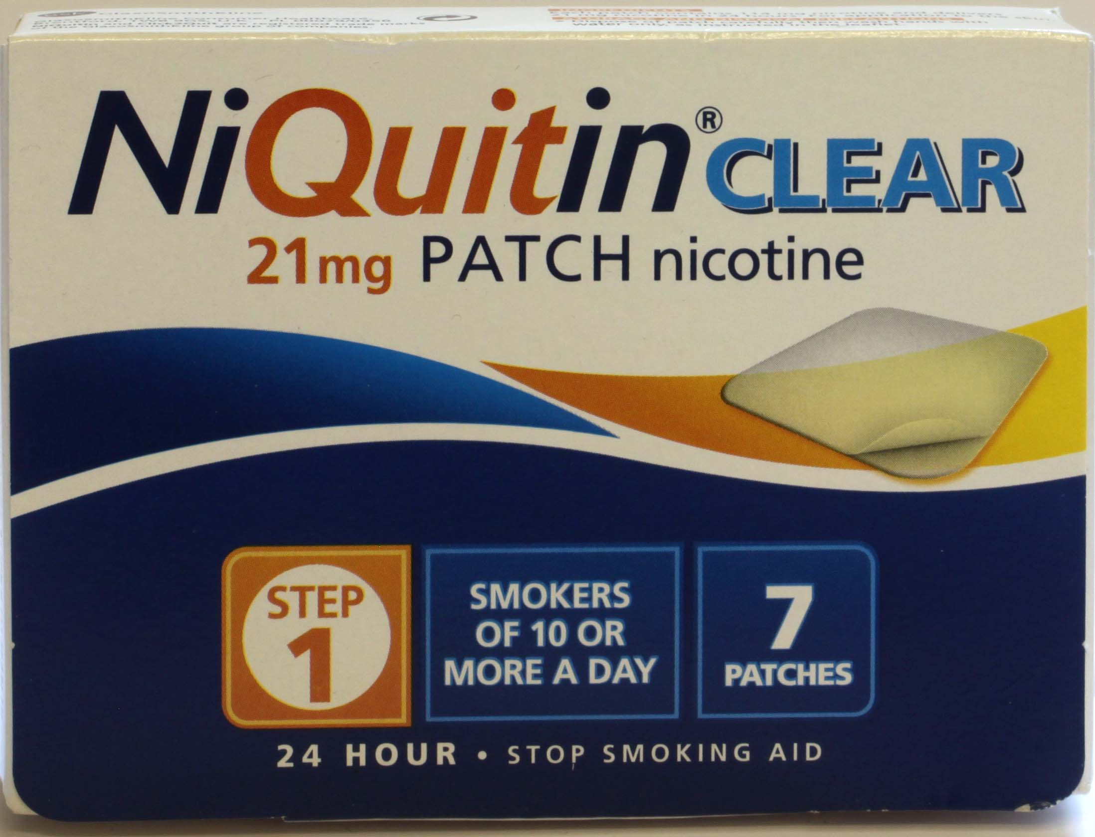 NiQuitin Clear 21mg Step1 - 7 Patches