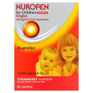 Nurofen for Children Singles Strawberry Flavour 8 Sachets