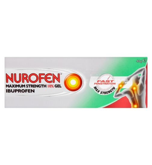 Nurofen 10% Maximum Strength Ibuprofen Gel 40g