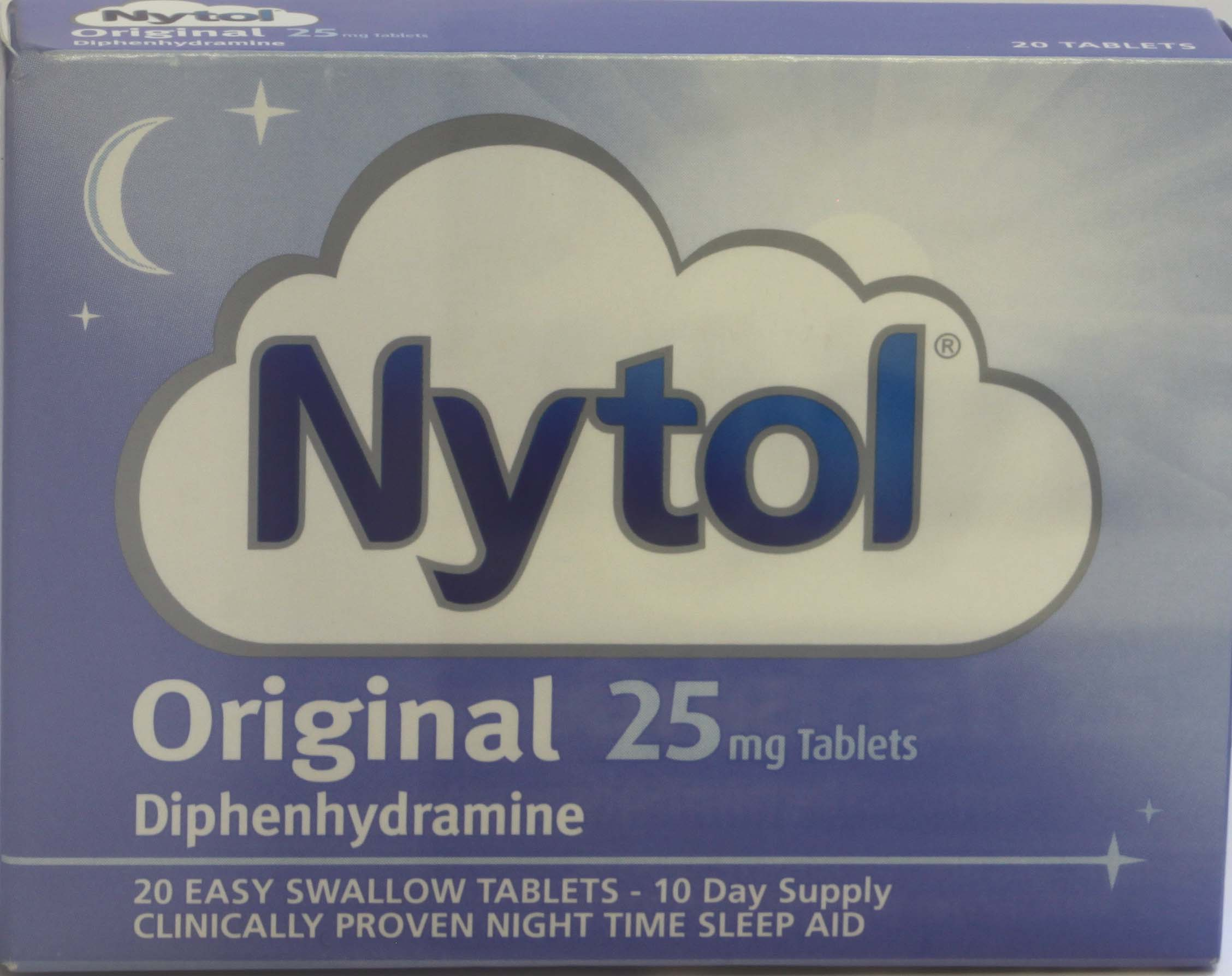 Nytol Original 25mg 20 Tablets