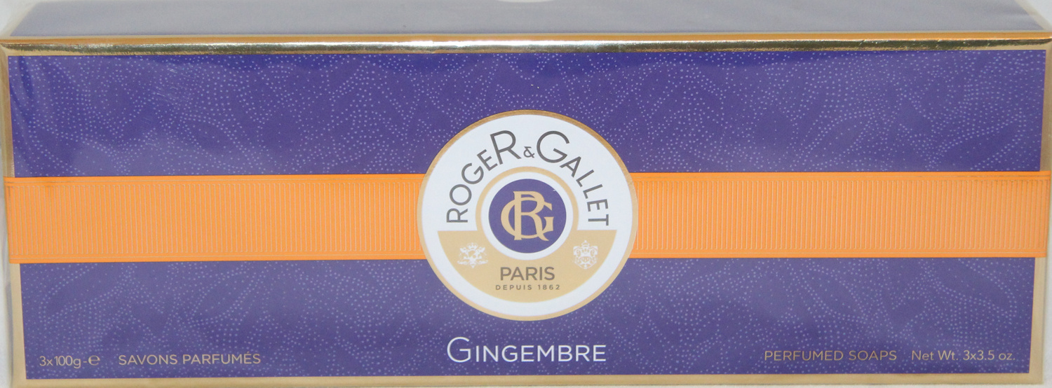 Roger & Gallet Perfumed Soaps Gingembre 3 x 100g