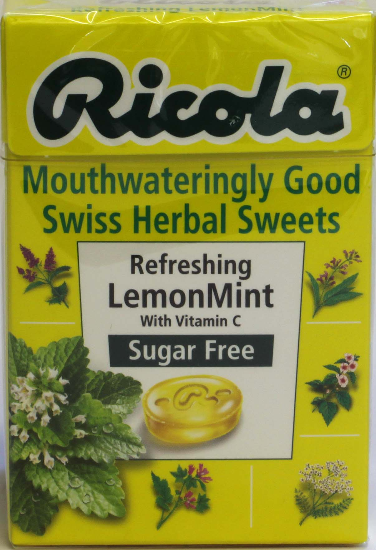 Ricola Lemon Mint Herbal Sweets - 45g