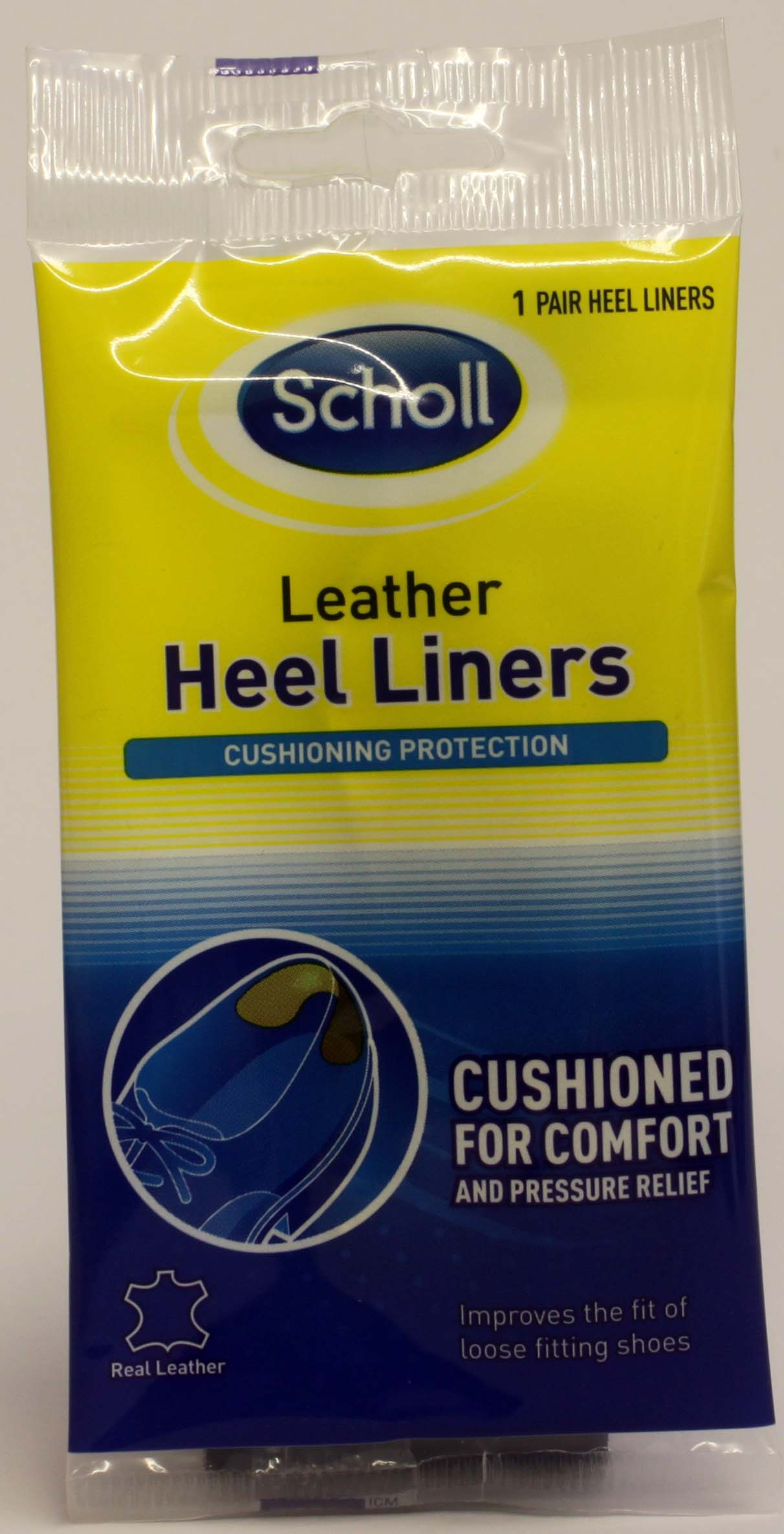 Scholl Leather Heel Liners - 1 pair