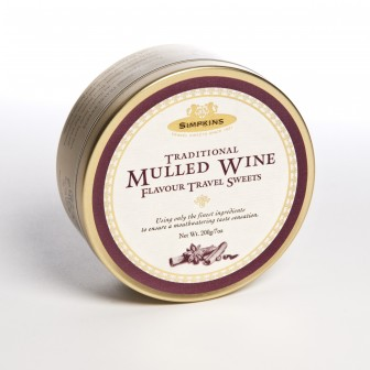 Simpkins Traditional Mulled Wine Flavour Travel Sweets 200g