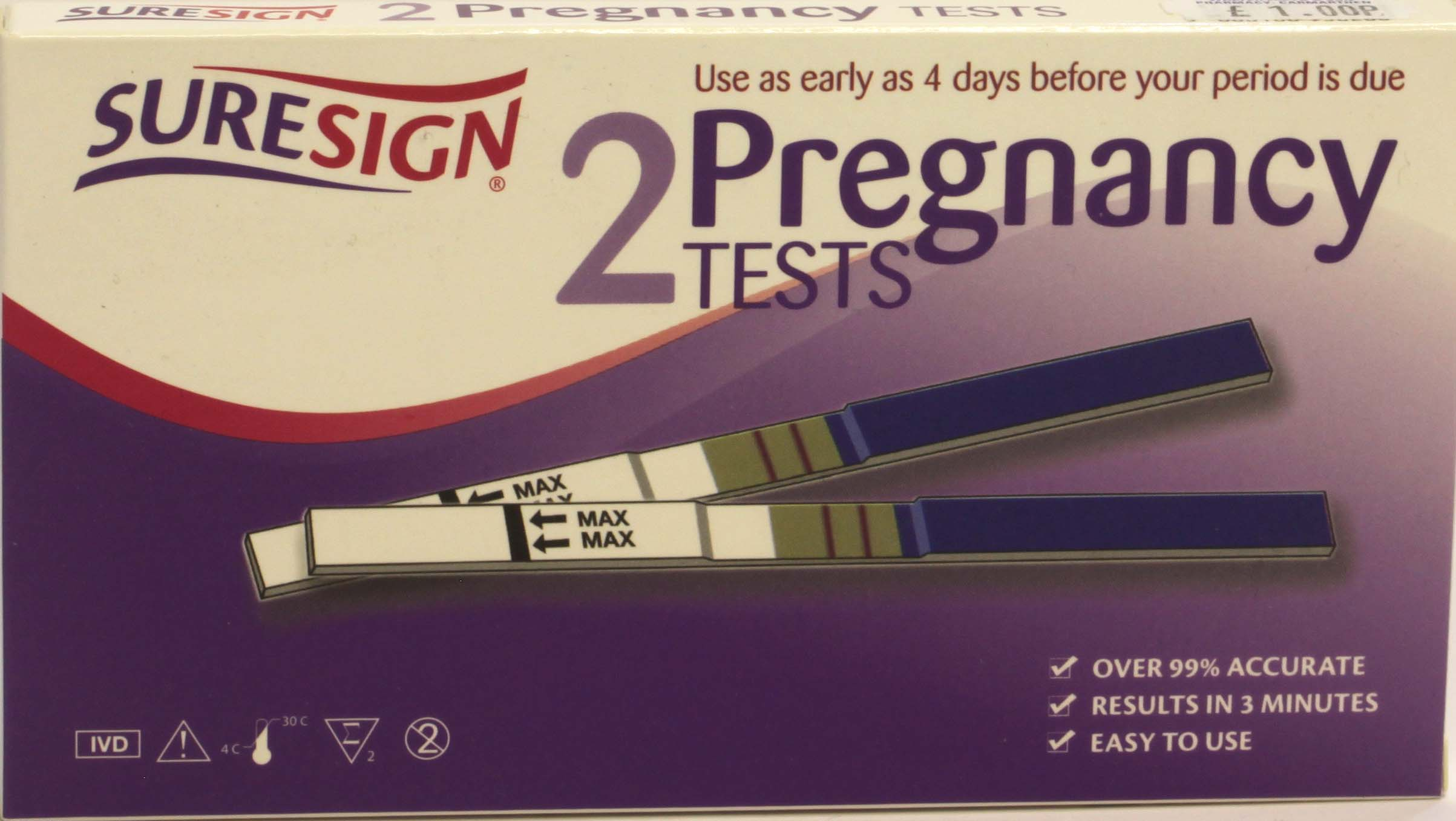 Suresign 2 Pregnancy Tests