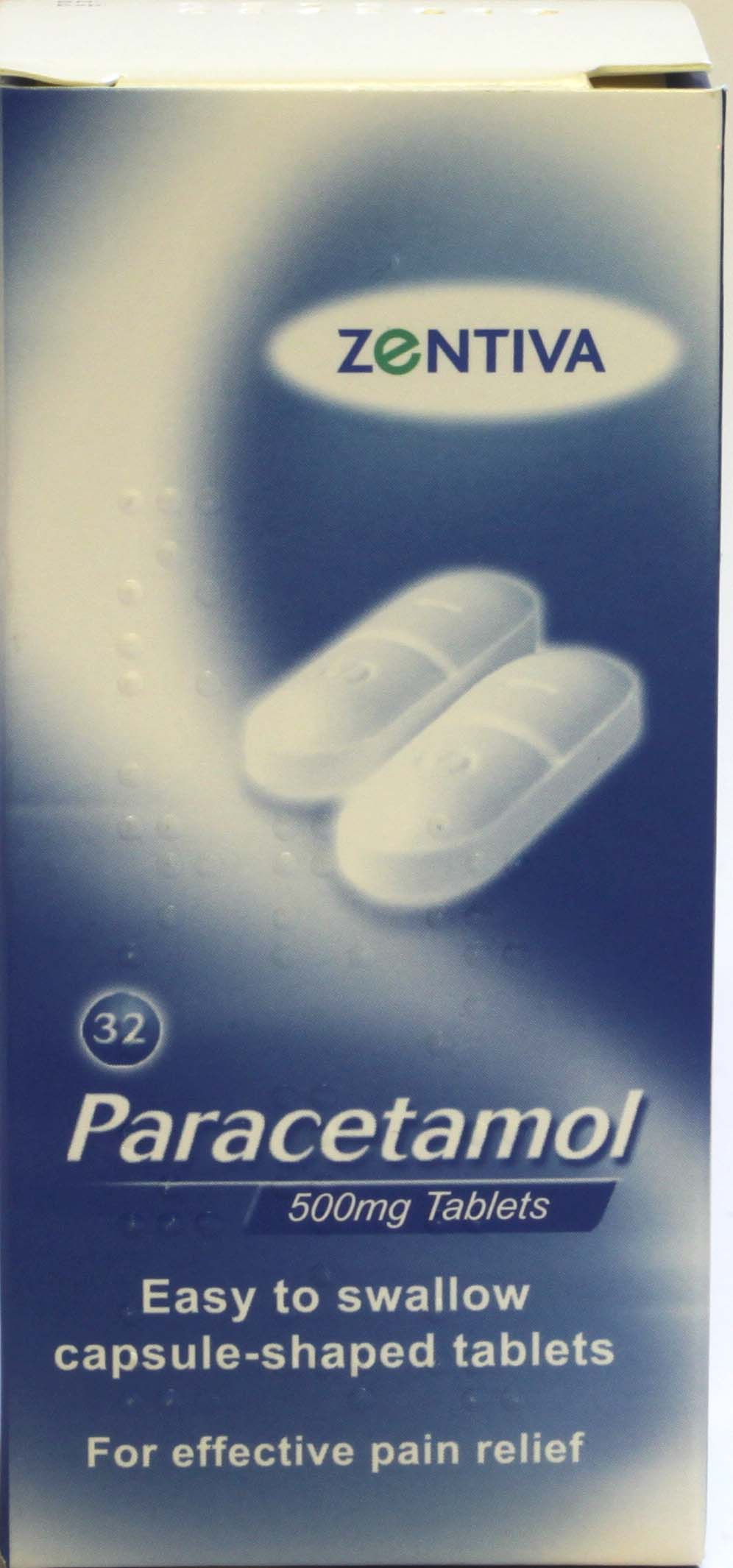 Zentiva Paracetamol 500mg Tablets 32