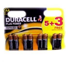 Duracell Plus Power AA +3 free - AA