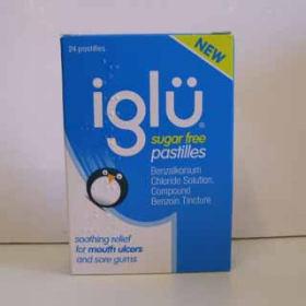 Iglu sugar free pastilles for mouth ulcers - 24 pastilles