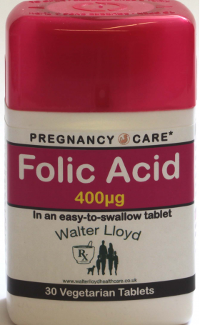 Folic Acid 400ug  - 30 Vegetarian Tablets