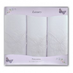 Ladies Luxury White Handkerchiefs 3