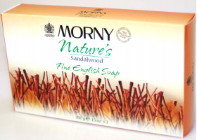 Morny Sandalwood Fine English Soap - 100g e 3.5oz.x3
