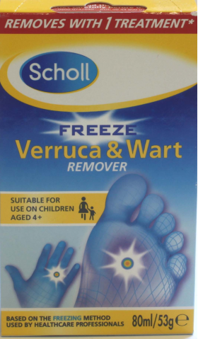 Scholl Freeze Verruca & Wart 80ml/53g